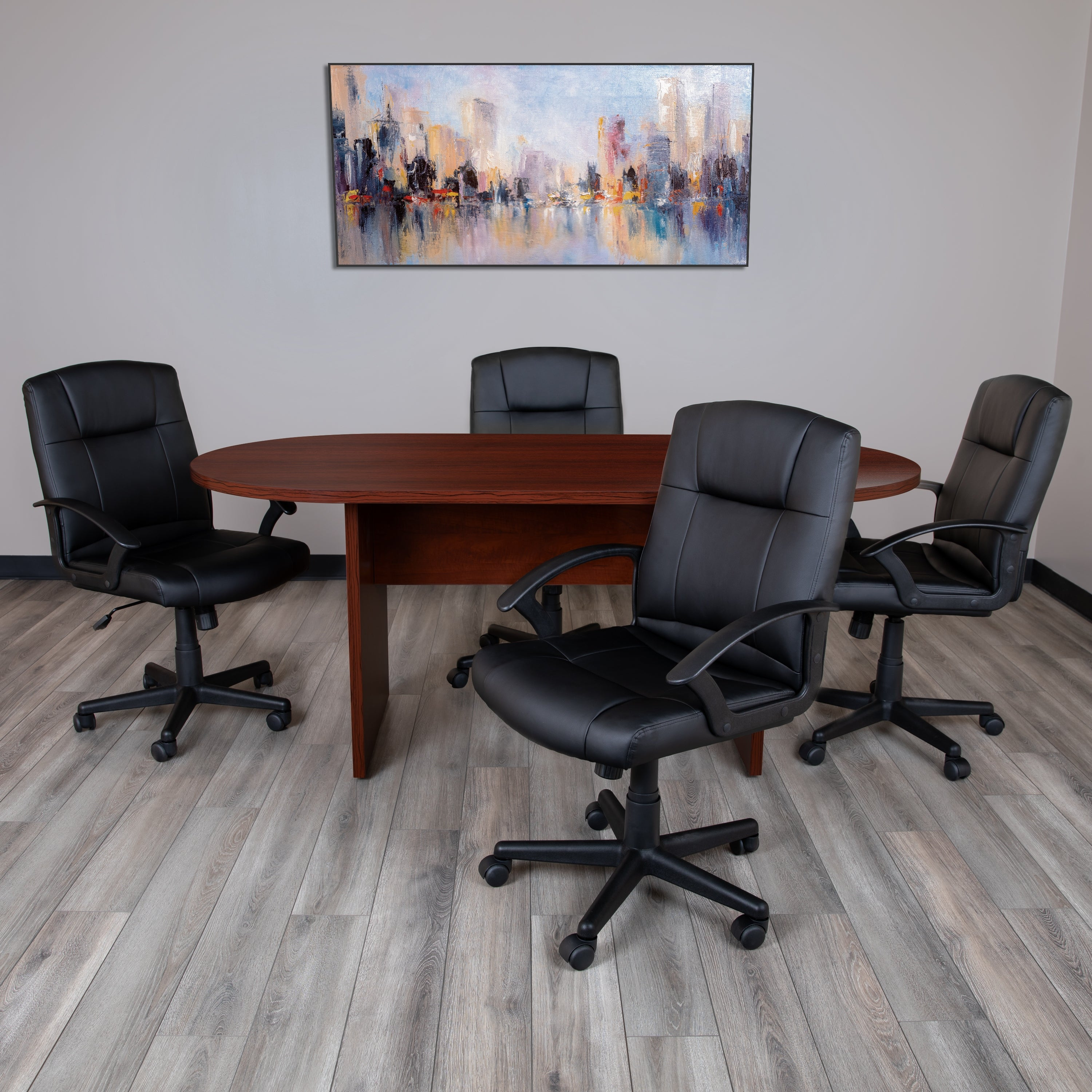 4 Foot (4 inch) Classic Oval Conference Table - Meeting Table