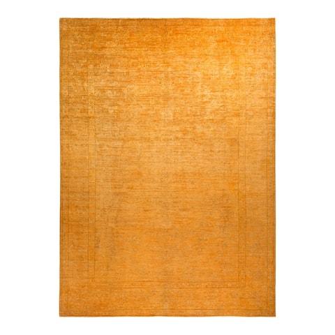 "Vibrance, One-of-a-Kind Handmade Area Rug - Gold, 8' 7"" x 11' 9"" - 8' 7"" x 11' 9"""