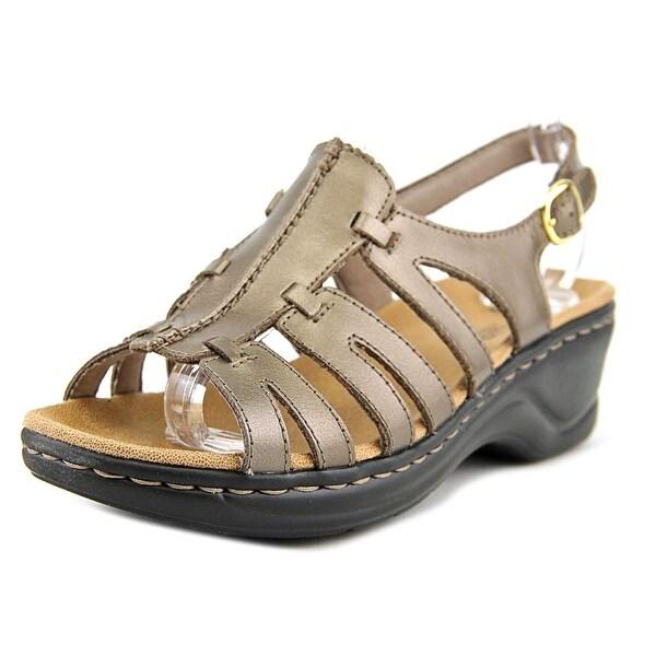 ca1fbcdec Clarks Narrative Lexi Marigold Q Women W Leather Bronze Slingback Sandal