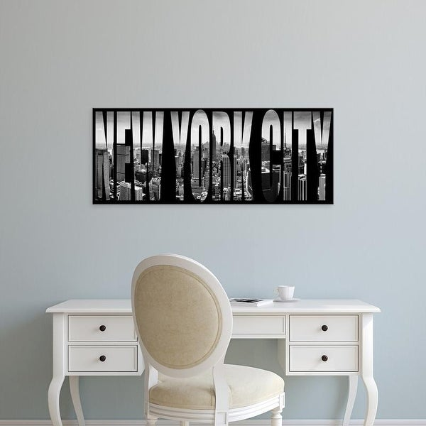Easy Art Prints Panoramic Images's 'Aerial view of cityscape through text, New York City, New York State' Canvas Art
