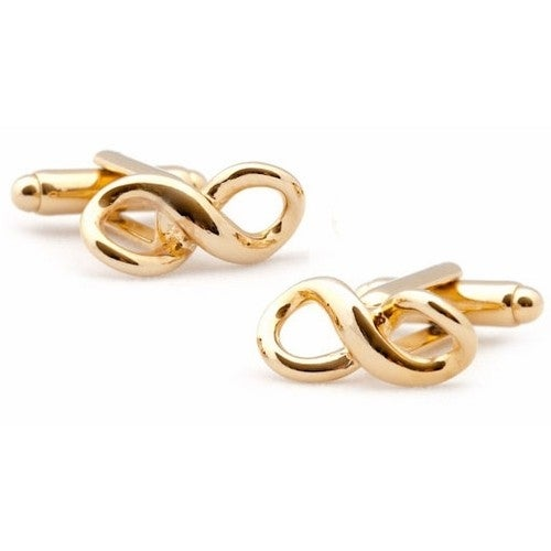 Gold Infinity Cufflinks Forever Love Marriage