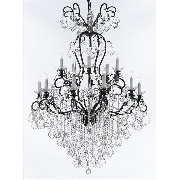 Swarovski Elements Tm Wrought Iron Crystal Chandelier