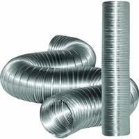 "Dundas Jafine MFX68X Non-Combustible Flexible Aluminum Ducting, 6"" x 8'"