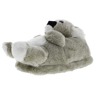 Comfy Feet Womens Animal Faux Fur Koala Novelty Slippers - L