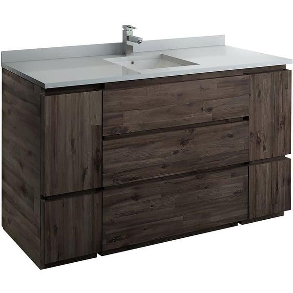 Fresca Fcb31 123612 Fc Stella 59 Single Free Standing Wood Vanity Acacia Wood Overstock 30543065