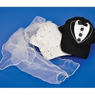Bride & Groom Baseball Hats (1 set)