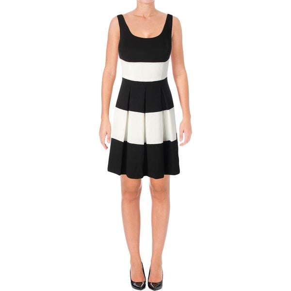 Lauren Ralph Lauren Womens Casual Dress Striped Sleeveless