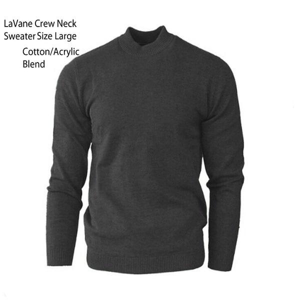 LaVane Grey Crew Neck Knit Sweater Size Large