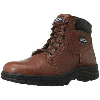 Skechers Mens Leather Texture Work Boots - 11.5 medium (d)
