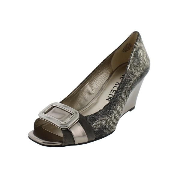 Anne Klein Womens Pamelyn Wedge Heels Peep Toe Pumps - 8.5 medium (b,m)