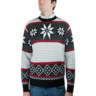Men's Crew Neck Jacquard Sweater (SW-038)