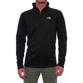 The North Face Women 100 Cinder 1/4 Zip Pullover Softshell Black