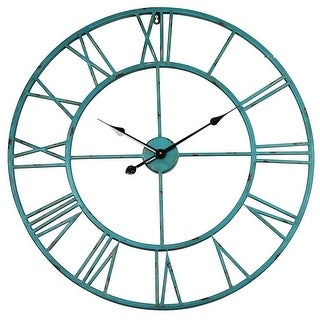 Link to The Gray Barn Sea Green Oversized Roman Round Wall Clock Similar Items in Decorative Accessories