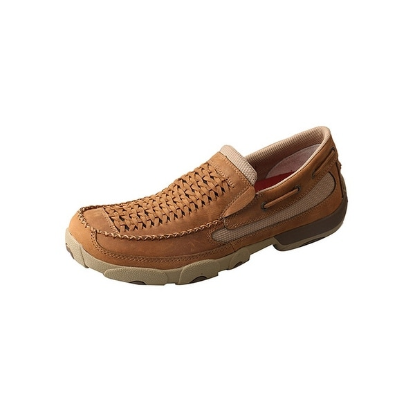 Twisted X Casual Shoes Mens Rubber Sole Slip On Mocs Saddle