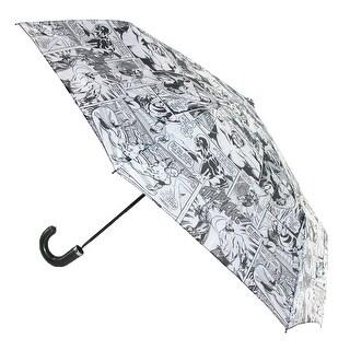 Marvel Kids' Black and White Retro Comic Compact Umbrella - Black and White - One Size