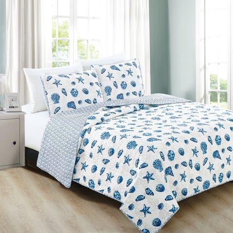 Fenwick Collection 3-Piece Coastal Quilt Set