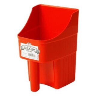 Little Giant 150408 Enclosed Feed Scoop, Durable Plastic, Red, 3 Quart