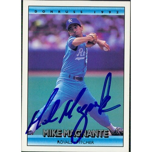 Signed Magnante Mike Kansas City Royals 1992 Donruss Baseball Card Autographed