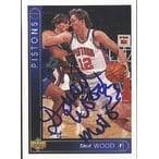 David Wood Detroit Pistons 1994 Upper Deck Autographed Card This item comes with a certificate of authenticity from A
