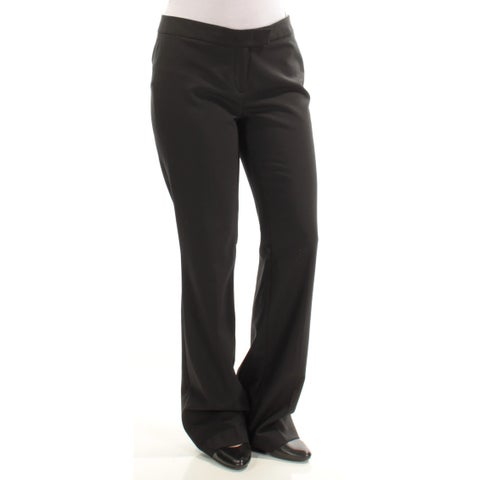 ANNE KLEIN Womens Black Straight leg Wear To Work Pants Size: 6