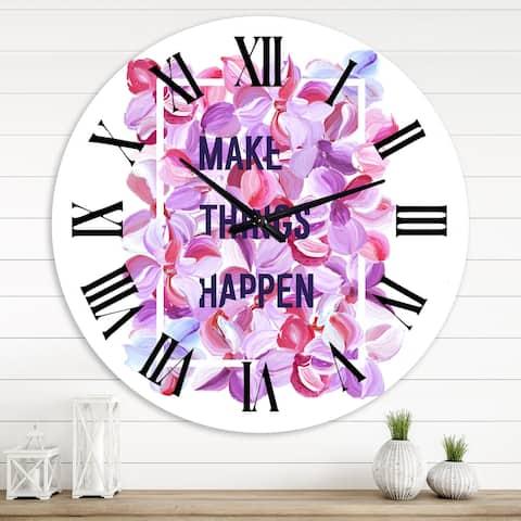 Designart 'Make Things Happen' Traditional wall clock