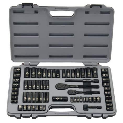Stanley 92-824 Black Chrome & Laser Etched Socket Set, 69 Piece