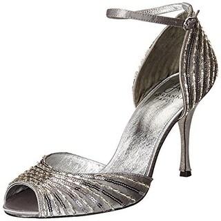 Adrianna Papell Womens Foley Satin Evening Dress Sandals - 8 medium (b,m)
