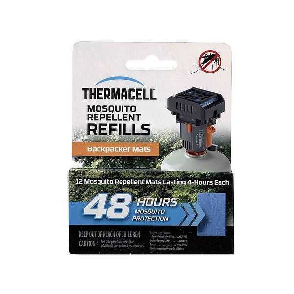 Thermacell M48 48-hrs Backpacker Mosquito Repellent Mats for MR-BP Repeller