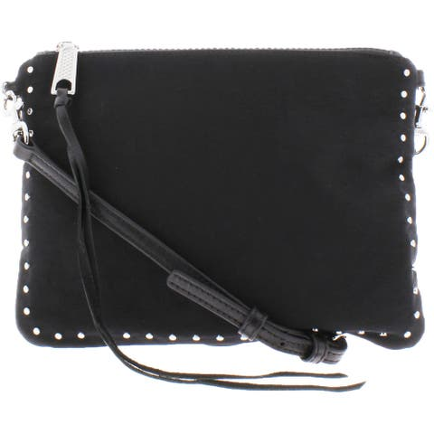 Rebecca Minkoff Jon Women's Nylon Studded Convertible Crossbody Handbag - Black - Small