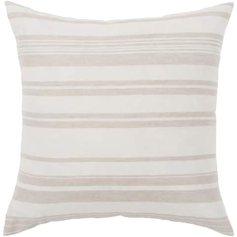 """Lawson Ivory & Beige Striped Throw Pillow Cover (20"""" x 20"""")"""
