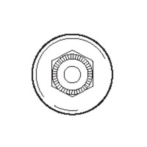 Prime Line M6001 Tub Enclosure Roller, Round, 3/4