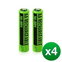Replacement Panasonic HHR-65AAABU NiMH Cordless Phone Battery - 630mAh / 1.2v (4 Pack)