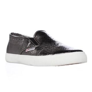 Superga 2311 Metallic Snak Fashion Sneakers - Graphite