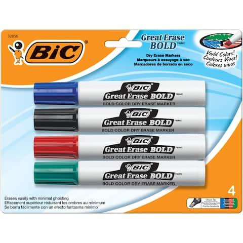 Bic america bic (6 pk) bic great erase dry erase decp41astbn