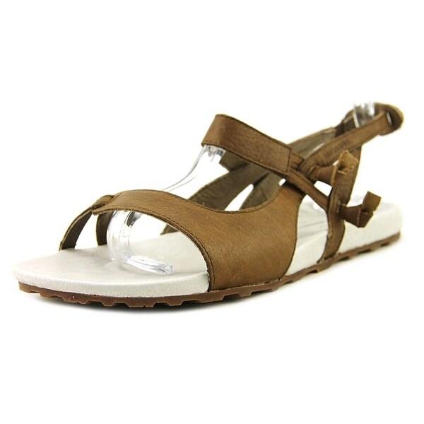 Merrell Summertide Knotty Women Open-Toe Leather Brown Slingback Sandal