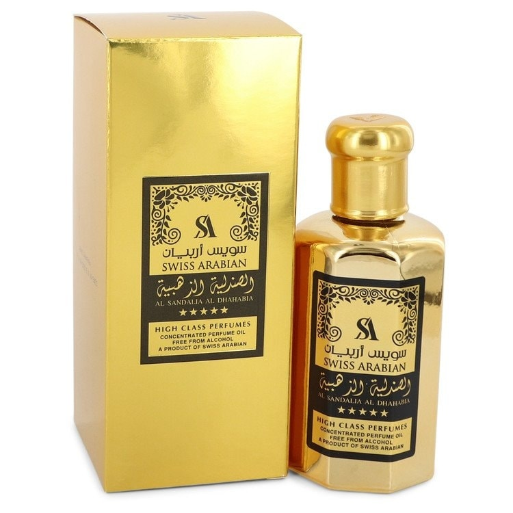 Al Sandalia Al Dhahabia by Swiss Arabian Concentrated Perfume Oil Free From Alcohol (Unisex) 3.21 oz For Women (3.1 - 4 Oz.)