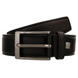 Renato Balestra T527 NERO Black Leather Mens Belt