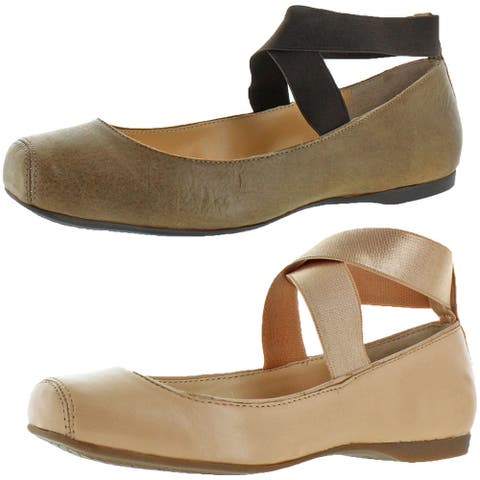 Jessica Simpson Women's Mandalaye Square Toe Ankle-Wrap Ballet Flats