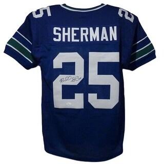 Richard Sherman Autographed Seattle Seahawks Throwback size XL Jersey JSA