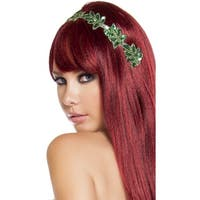 Ivy Leaf Sequin Headband, Leaf Headband - Green - One Size Fits most