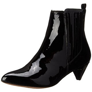 Pour La Victoire Womens Willis Booties Patent Leather Pointed Toe - 8 medium (b,m)
