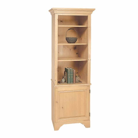Bookcase Unfinished Pine Shaker Kit 66.5H Renovator's Supply