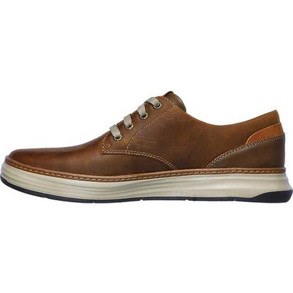 Shop Skechers Men's Moreno Gustom Oxford Dark Brown On