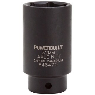 "Powerbuilt? 1/2"" Drive x 32mm Axle Nut Socket - 648470"