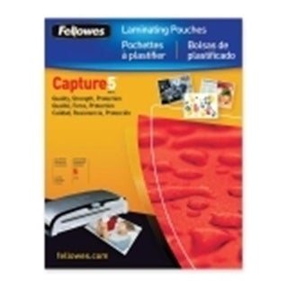 FELLOWES Fellowes,Laminating Pouch,Glossy 4x6 Photo,25pk