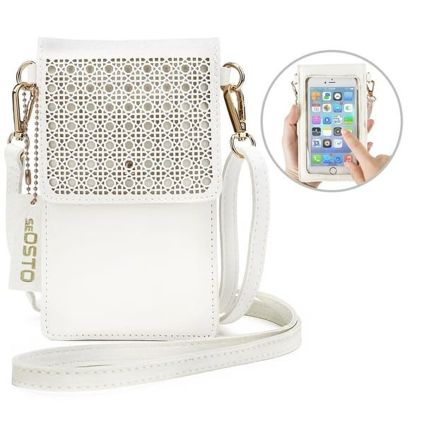 b3ff68fe7577 Shop Small Crossbody Bag Cell Phone Purse Wallet with 2 Shoulder ...