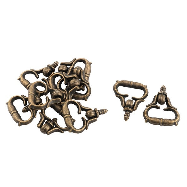 Unique Bargains Home Dresser Door Jewelry Box Drawer Pull Handle Ring Knob 3mm Male Thread 10pcs