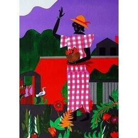Romare Bearden, Girl, The Garden