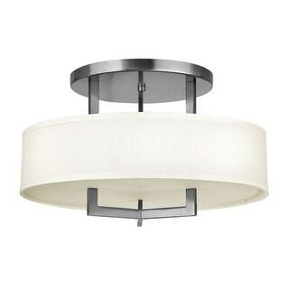 "Hinkley Lighting 3201-GU24 3 Light 20"" Width Title 24 Fluorescent Semi-Flush Ceiling Fixture from the Hampton Collection"