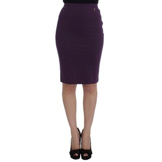 Galliano Galliano Purple Stretch Pencil Skirt - it40-s